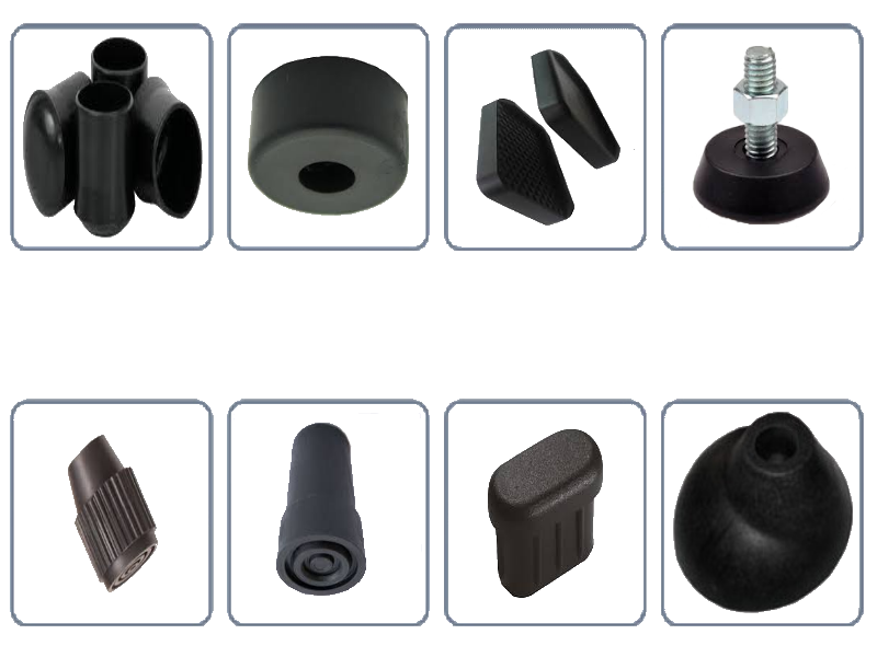 suporte de base de borracha especial várias opções