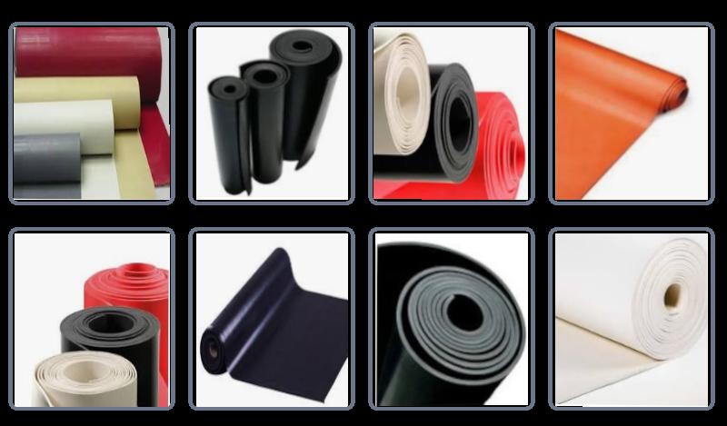 Lençol de borracha sob medida, para uso em indústrias siderúrgicas, automotivas, fundições, estaleiros, montagens industriais e também pela construção civil. Sendo aplicados na maior parte de todos os segmentos do mercado.